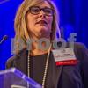 Nancy Brown, Principal of CliftonLarsonAllen CAST, speaks at the 2015 CBJ CFO Awards.
