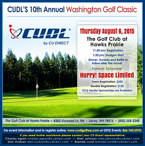 2015 CUDL Washington Golf Classic at Golf Club Hawks Prairie