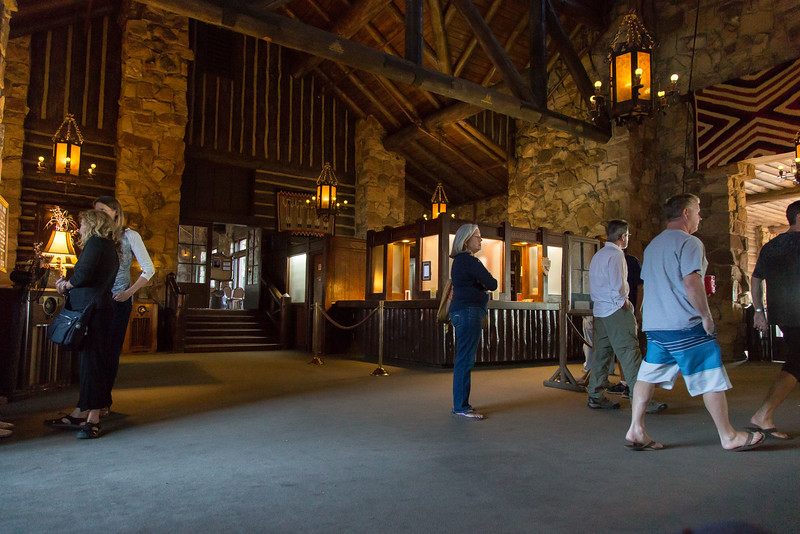 The lobby  at the North Rim Lodge.