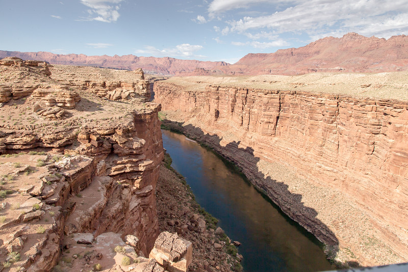 Looking up stream towards Lee's ferry ,Glen Canyon Dam.