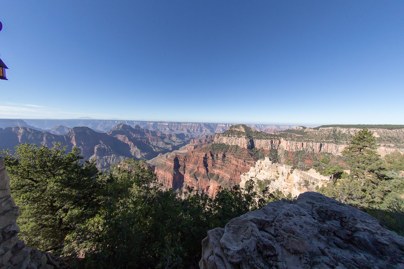 The first view after you step out of  the North Rim Lodge Canyon observation room
