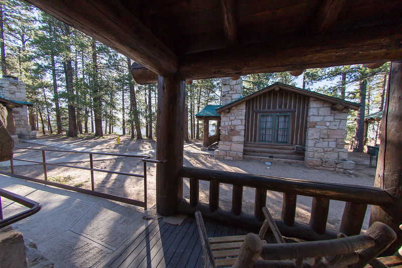 Our Western cabin at the North Rim Lodge, reminded us of our old Cabin in Medford Lakes.
