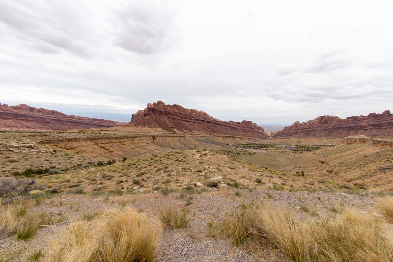 Arches National Park ,the long and winding road in to the Park.