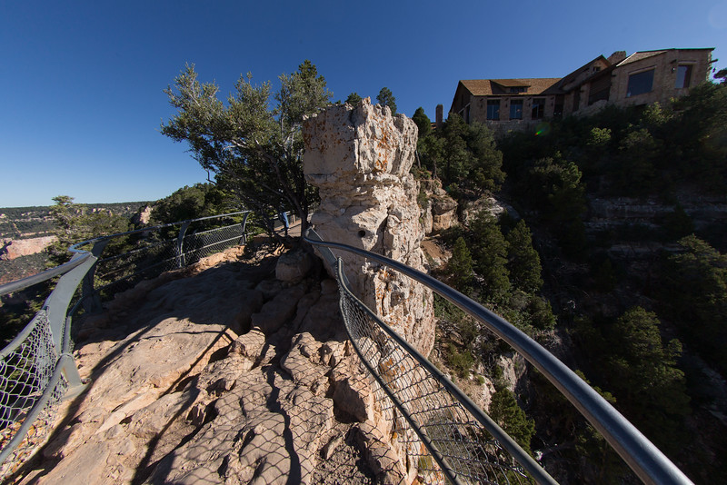 Not just Another view of the North Rim Lodge Canyon observation room,a little rocky.