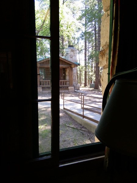 Our Western cabin at the North Rim Lodge, the end of July,right at 70 deg,windows open,it dropped to 58 that night,great sleeping..