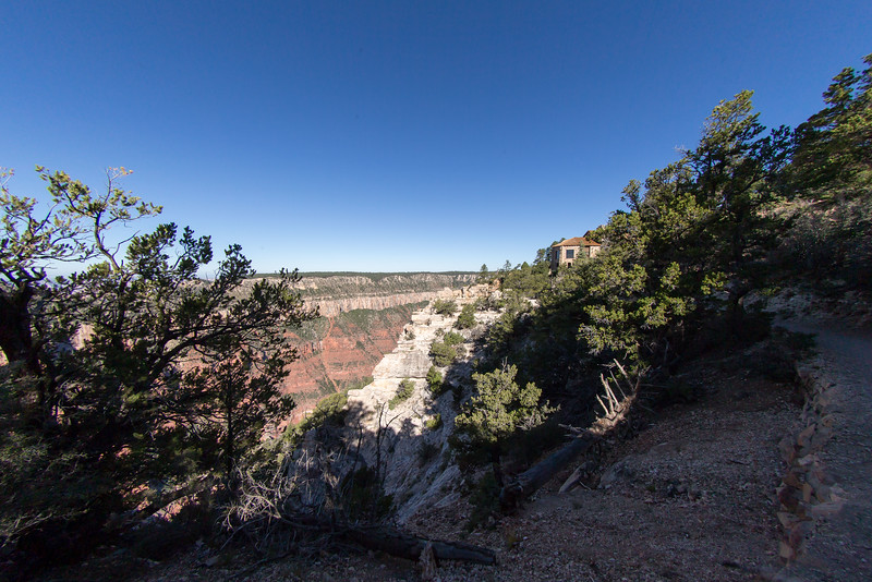 Another view of the North Rim Lodge Canyon observation room.