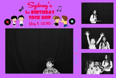 7-11-2015  Sydney's 1st Birthday Sock Hop