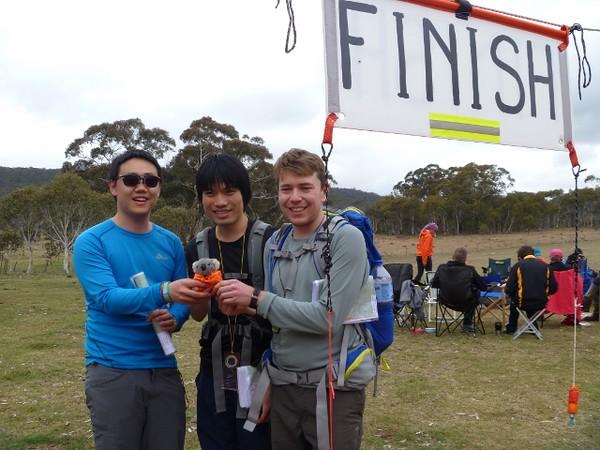 Barkley's 24hr team mates - Yitao, Ben and Daniel