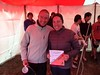 Winners of the Bike Event! — Michael Reed and Leigh Nelson.