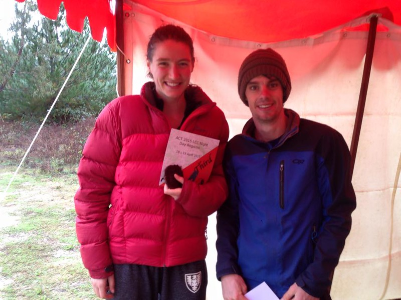 Madi Rosevear and Craig McConnochie - third in the MIxed Open, Foot Event.