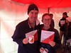 Thomas Banks and Keira Doherty - overall winners of the Foot Event!
