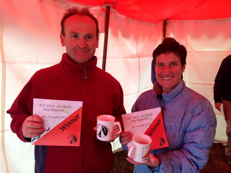 Nick Lhuede & Lisa Cutfield - Mixed Vets winners of the Bike Event