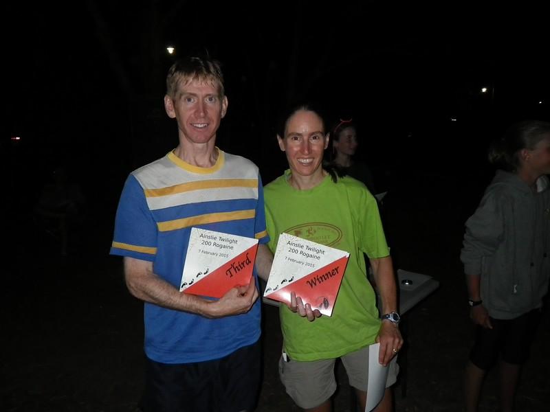 Peter Baldwin and Julie Quinn - winners mixed vets and third vets