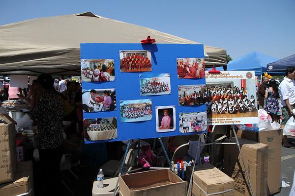 Fundraising at L.A. Thingyan