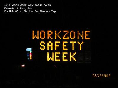 Work Zone Awareness Week 2015