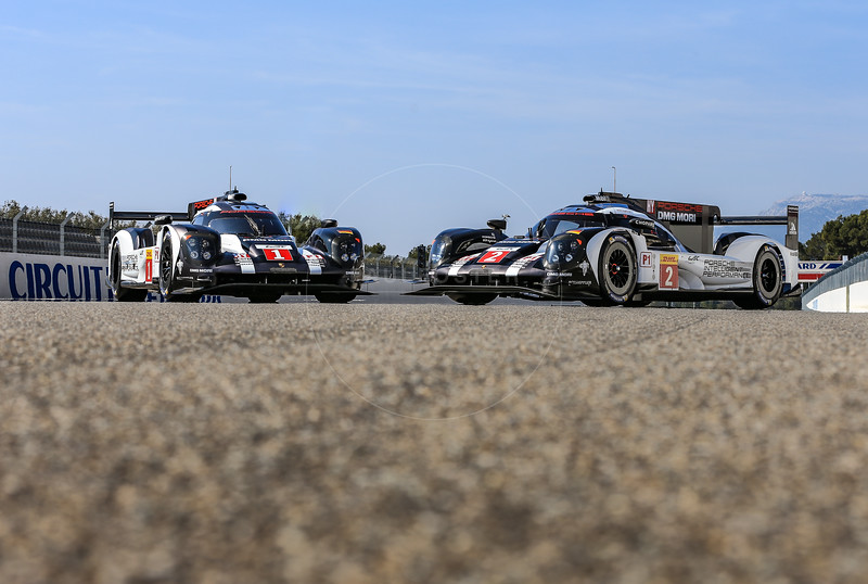 Porsche photo call before the  FIA WEC Prologue held at  Circuit Paul Ricard, Le Castellet, France from the 24th-26th of March 2016