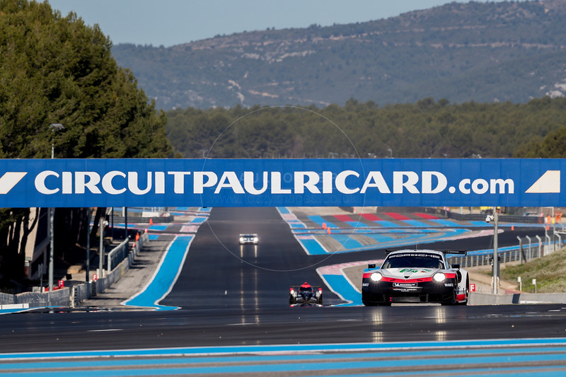 #91 Porsche Motorsport (DUE) Porsche 911 RSR LMGTE Pro - Richard Lietz (AUT), Gianmaria Bruni (ITA)  WEC Prologue , Circuit Paul Ricard, Le Castellet, Var, France