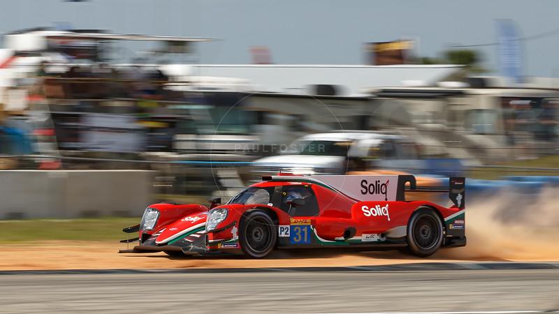 #31 Dragonspeed Oreca 07: Roberto Gonzalez, Pastor Maldonado, Anthony Davidson , 1000 Miles of Sebring, Sebring International Raceway, Sebring, Florida