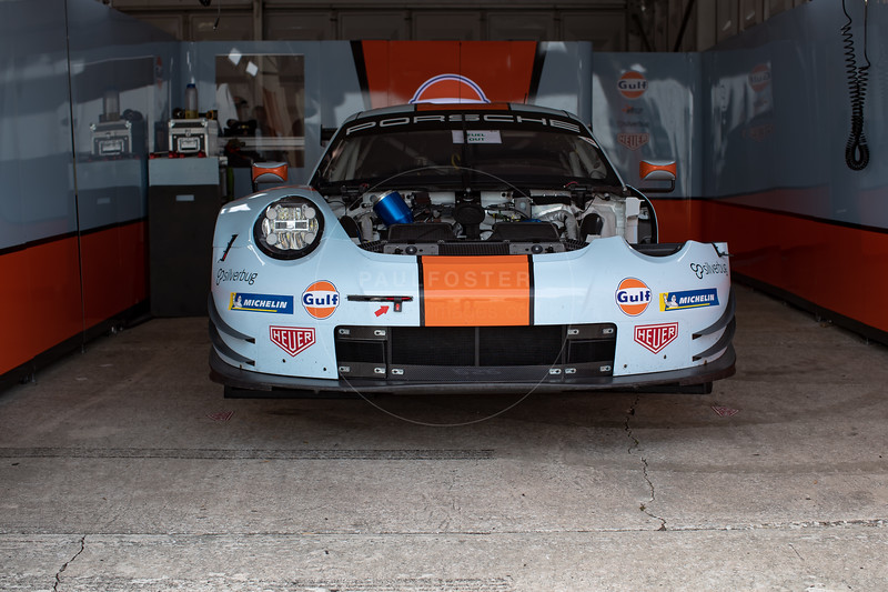 #86 Gulf Racing Porsche 911 RSR: Michael Wainwright, Ben Barker, Thomas Preining 1000 Miles of Sebring, Sebring International Raceway, Sebring, Florida