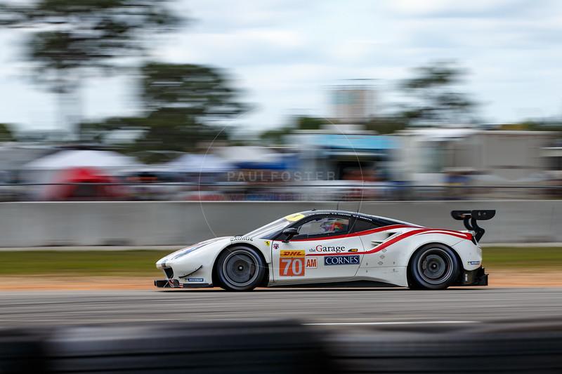 #70 MR Racing Ferrari 488 GTE: Motoaki Ishikawa, Olivier Beretta, Eddie Cheever  , 1000 Miles of Sebring, Sebring International Raceway, Sebring, Florida