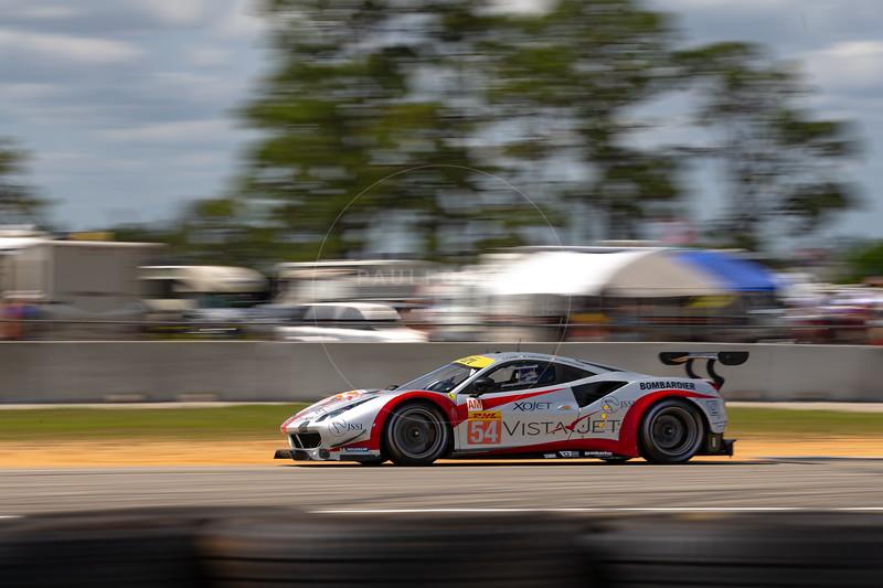 #54 Spirit of Race Ferrari 488 GTE: Thomas Flohr, Francesco Castellacci, Giancarlo Fisichella , 1000 Miles of Sebring, Sebring International Raceway, Sebring, Florida