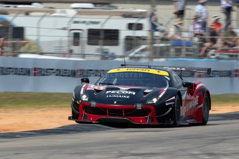 #61 Clearwater Racing Ferrari 488 GTE: Luis Perez Companc, Matteo Cressoni , Matthew Griffin , 1000 Miles of Sebring, Sebring International Raceway, Sebring, Florida