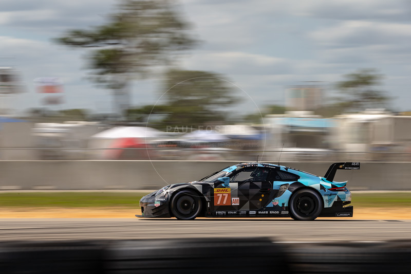 #77 Dempsey Proton Competition Porsche 911 RSR: Julien Andlauer, Matt Campbell, Christian Ried , 1000 Miles of Sebring, Sebring International Raceway, Sebring, Florida