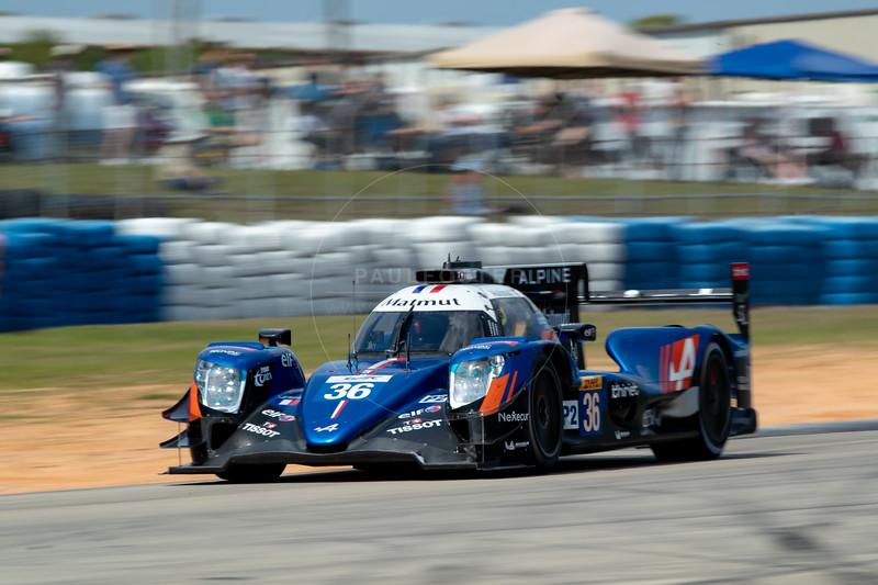 #36 Signatech Alpine Matmut Alpine A470: Nicolas Lapierre, Andre Negrao, Pierre Thiriet , 1000 Miles of Sebring, Sebring International Raceway, Sebring, Florida