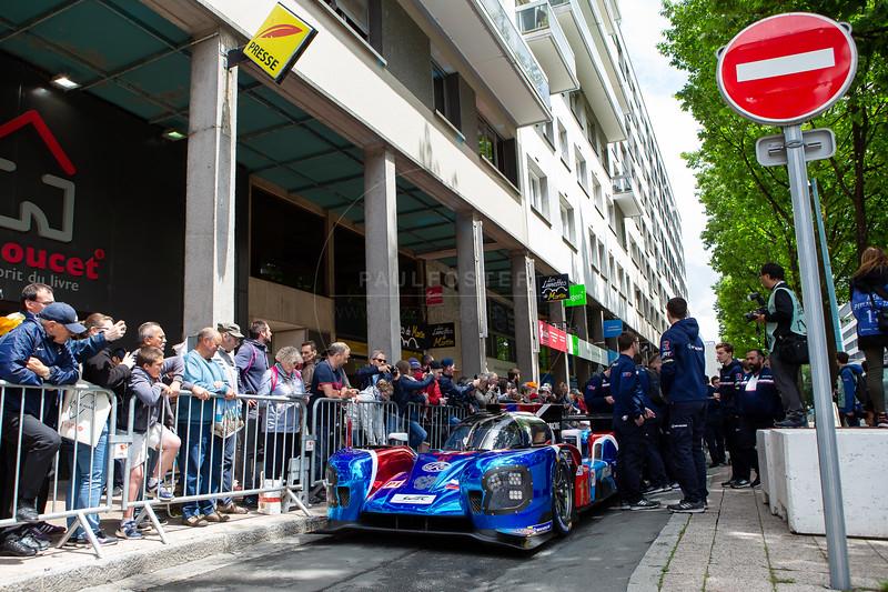 #11 SMP Racing BR Engineering BR1: Mikhail Aleshin, Vitaly Petrov, Stoffel Vandoorne, Le Mans 24 Hours Public Scrutineering, Place de la République, Le Mans, France