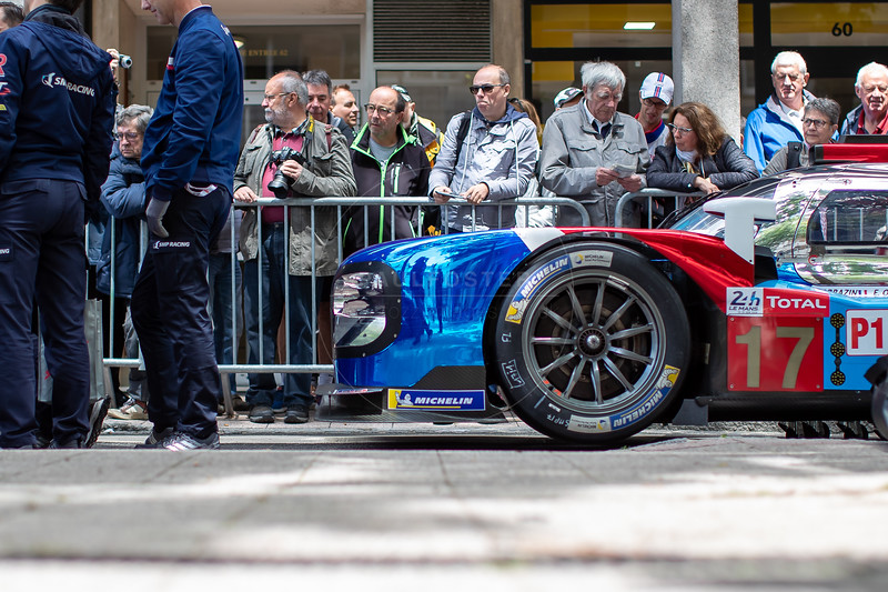 #17 SMP Racing BR Engineering BR1: Stéphane Sarrazin, Egor Orudzhev, Sergey Sirotkin, Le Mans 24 Hours Public Scrutineering, Place de la République, Le Mans, France