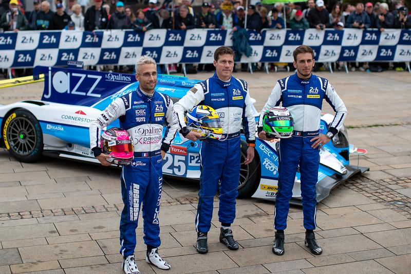#25 Algarve Pro Racing Ligier JSP217 Gibson: David ZOLLINGER, Andrea PIZZITOLA, John FALB , Le Mans 24 Hours Public Scrutineering, Place de la République, Le Mans, France