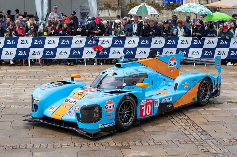 #10 Dragonspeed BR Engineering BR1: Henrik Hedman, Ben Hanley, Renger Van der Zande , Le Mans 24 Hours Public Scrutineering, Place de la République, Le Mans, France