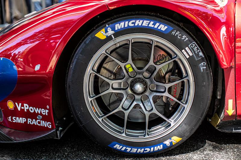 #51 AF Corse Ferrari 488 GTE EVO: Alessandro Pier Guidi, James Calado, Daniel Serra, Le Mans 24 Hours Public Scrutineering, Place de la République, Le Mans, France
