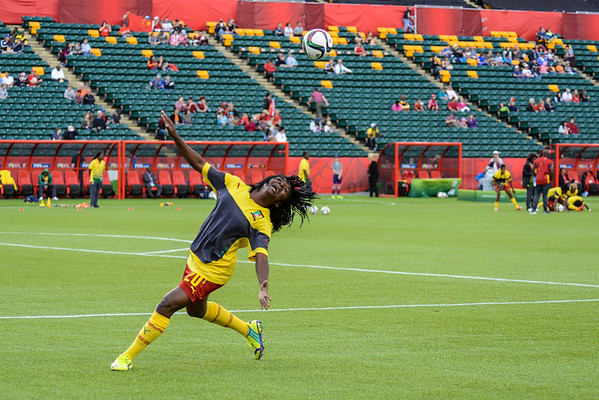China PR vs Cameroon in the round of 16 at the FIFA Women's World Cup Canada 2015 in Edmonton, Alberta, Canada on June 20, 2015.