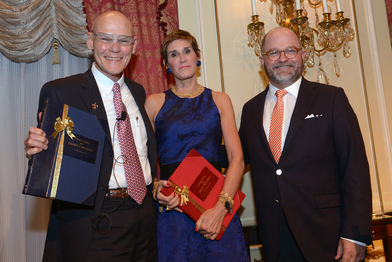 James Carville, Mary Matalin, and NEHGS President and CEO Brenton Simons.