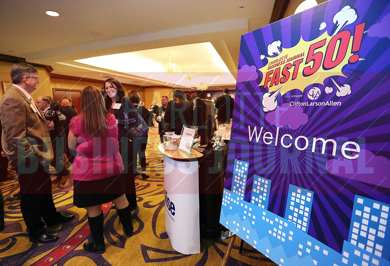 Hundreds came out to celebrate the fifty fastest growing private businesses in Charlotte at the Hilton Center City on Thursday evening.