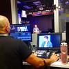 From the control room, Bryan Bumgardner snapped a photo of Joe Jonas in a CBS studio. Lauren Moraski (2000), Managing Editor of Entertainment at CBS News, interviewed Jonas.