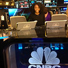 Shakori Fletcher, the next anchor of CNBC? The fellows all toured the floor of the New York Stock Exchange on the last day of orientation week and learned how CNBC established itself at Post 9.
