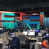 CNBC Studio A, as seen from across the newsroom in Englewood Cliffs, NJ.