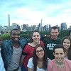Taking advantage of free admission during the Museum Mile Festival, fellows take in the view from the top of the Metropolitan Museum of Art.