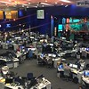 The CNBC newsroom, as seen from the second floor, is full of activity during an afternoon visit.
