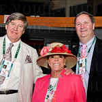 Host and Hostess of the Fillies and Lilies Party: Ken Kurek, Wendy Clancy and Brian Learst.