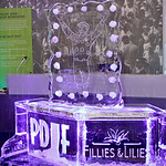 Fillies & Lilies Permanently Disabled Jockey Fund Ice Sculpture.