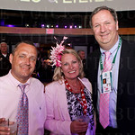 Tom and Danielle Schneider with Host of the Fillies and Lilies Party- Brian Learst.
