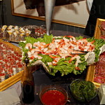 Attendees dined on decident heavy hors d'oeuvres throughout the evening.