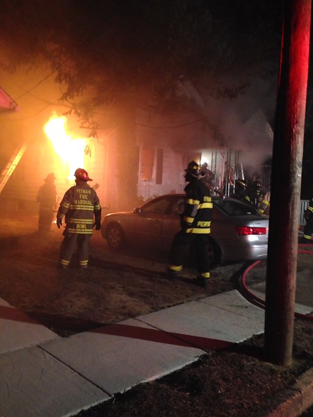 3-18-15 (Gloucester County)  PITMAN - 812 Long Ave - Dwelling Fire All Hands