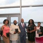 The Spirit Award winners were: Clara Cunningham, Angie Thompson, Thomas Whitford, Managing Partner with J. Hagan, Warren Wealth Advisors LLC, Marcus Warren, Beatrice Moore, Connie Manica and Veronica Castro.