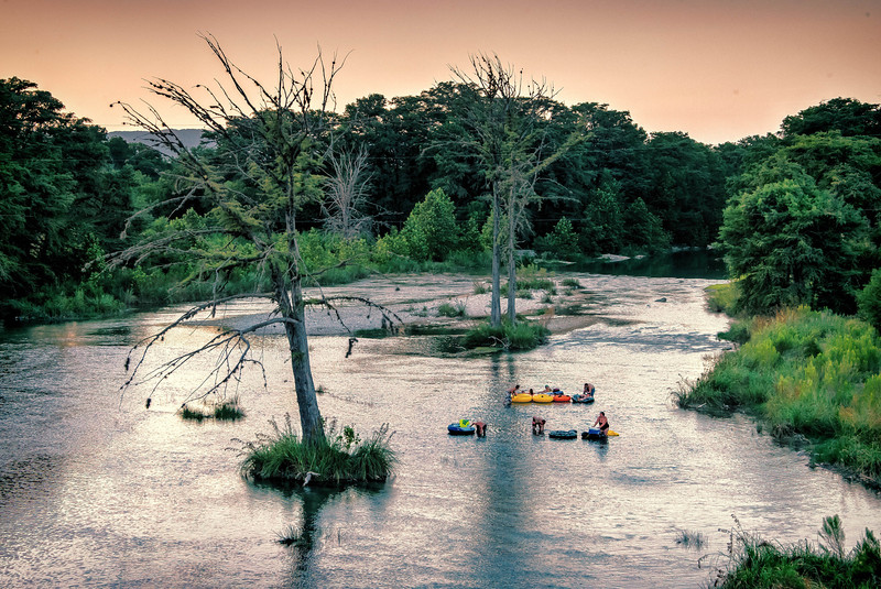 Sundown on the Frio near Garner State Park