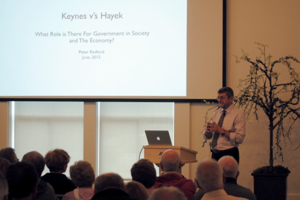 KEYNES VS. HAYEK: WHAT ROLE IS THERE FOR GOVERNMENT IN THE U.S. ECONOMY? with Peter Radford, economic consultant