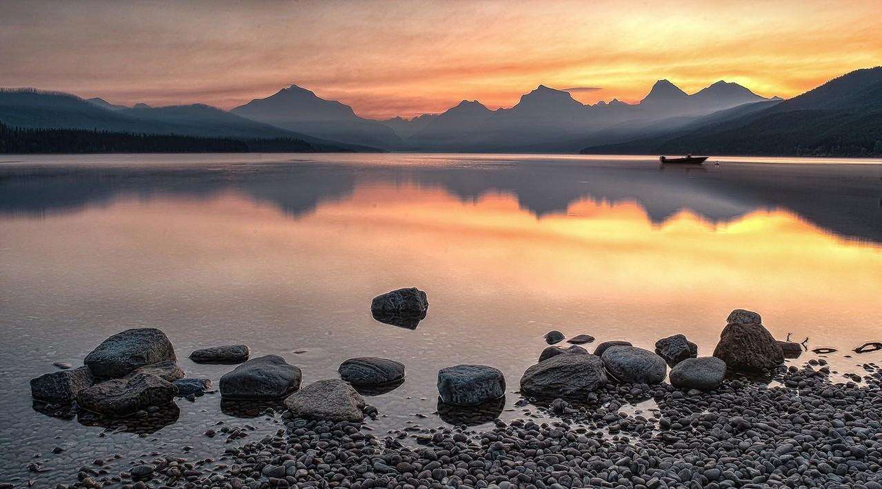 Sunrise on McDonald Lake